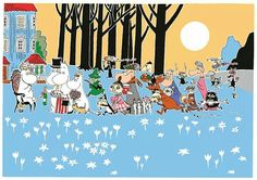 In 1945 Tove Jansson wrote her first book about the Moomin family, The Moomins and the Great Flood, and in 2015 we celebrate the anniversary of the Moomins Little My Moomin, Moomin Shop, Moomin Valley, Tove Jansson, 70th Anniversary, Red Paper, Christmas Books, Character Illustration, Troll
