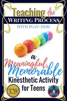 Teaching writing? Read about a memorable and meaningful kinesthetic activity that will help your students understand the stages of the writing process on a deeper level. Works great in middle and high school English / ELA classes. #writing process #ELAles