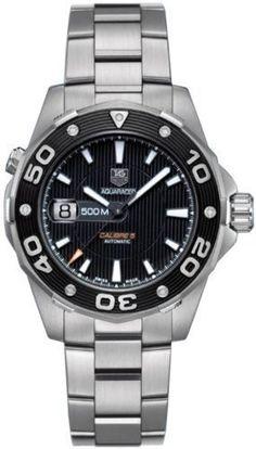 Tag Heuer Aquaracer Calibre 5 Automatic WAJ2110.BA0870 Wrist Watch for Men #TagHeuer #LuxurySportStyles