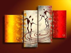 hand-painted large canvas art cheap Warm color lovers decoration abstract Landscape oil painting on canvas framed Cheap Canvas Art, Large Canvas Art, Canvas Wall Art, African Paintings, African Art, Oil Paintings, Panel Art, Oil Painting Abstract, Contemporary Paintings