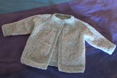 Knitted top-down, seamless, child's jacket.