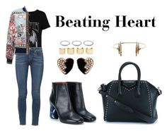 """Beating Heart"" by anaelle2 ❤ liked on Polyvore featuring French Connection, Paige Denim, Roberto Cavalli, Givenchy, Acne Studios, Yves Saint Laurent, Maria Black, Luv Aj, women's clothing and women"