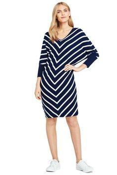 621a6573c4a Women s Long Sleeve Knit T-Shirt Dress from Lands  End Striped T Shirt Dress