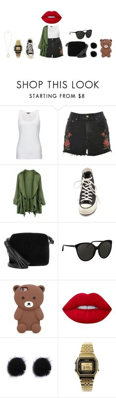 """"" by lena1612 ❤ liked on Polyvore featuring Jigsaw, Topshop, Converse, Anya Hindmarch, Linda Farrow, Forever 21, Lime Crime, Casio and Kate Spade"