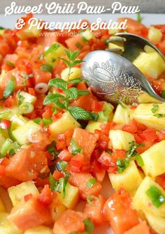 Delicious, refreshing salad, packed with fruit and very kid-friendly ! {Have leftovers for breakfast ;-)  }