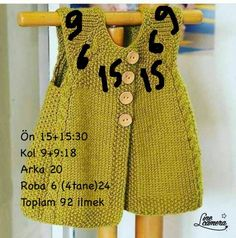 Diy Crafts - new-season-spring-bebe-vest Knitting For Kids, Baby Knitting Patterns, Baby Patterns, Knitting Ideas, Baby Outfits, Kids Outfits, Knitted Baby Cardigan, Quick Knits, Vest Pattern