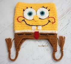 Repeat Crafter Me: Crochet Bob the Square Sponge Hat