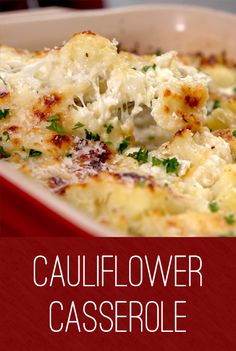 Cauliflower Casserole Recipe | Add a healthy twist to your casserole with this easy to make dish. The kids will appreciate the cheesy goodness, while grown-ups will appreciate the bonus serving of veggies.  Parmesan, mozzarella and milk add the creaminess and cauliflower adds the nutrients. Click for the recipe and give it a try #healthyrecipes #familydinner