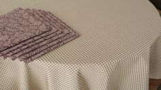 6 Napkins w Matching Tablecloth  plum taupe olive by FeeneyLane, $60.00