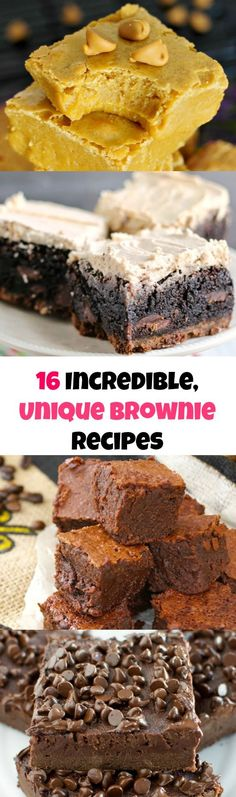 16 Unique and Incredibly Delicious Brownie Recipes You have to try!!