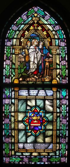 And they broke bread. Incredible Church window~