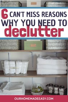 Decluttering your home will make your life easier! Click here to read all 6 reasons and join the free Declutter Challenge! #organization #home #ourhomemadeeasy