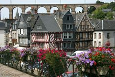 Great view of the town and viaduct Morlaix, Brittany Region Bretagne, France Country, Belle France, French Lifestyle, Brittany France, Photos Voyages, French Countryside, France Travel, Great View