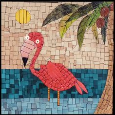Flamingo, inspiration for mosaic