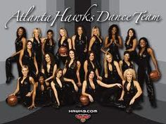 Dancing for the Atlanta Hawks Dance Team. (college and career)