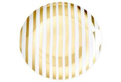 S/4 Gold-Stripe Dinner Plates - From The Home Decor Discovery Community at www.DecoandBloom.com