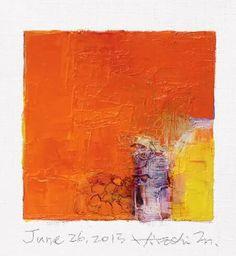 June 26, 2013 Oil on canvas  9 cm x 9 cm  © Hiroshi Matsumoto