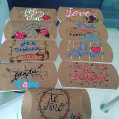 #cucuta #colombia #expresionsocial #cumpleaños #amor #detalles #regalos #letra #decoracion Pretty Letters, Tribal Animals, Pop Up Box Cards, Brush Lettering, Lettering Ideas, Romantic Gifts, Valentine Decorations, Fathers Day, Boyfriend Gifts