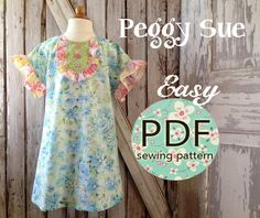 Peggy Sue   Ruffle Dress and Top Pattern  by RubyJeansCloset, $7.95