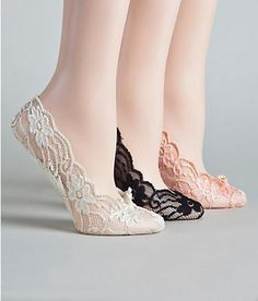A lace slipper is a perfect way to remain comfortable and stylish at your wedding!- so cute havent even thought about using these