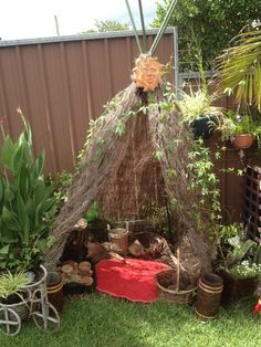 """Lovely outdoor den at Puzzles Family Day Care ("""",)"""