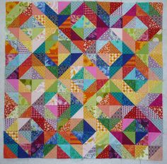 This is the next quilt I'm trying.  What a great way to use up scraps!