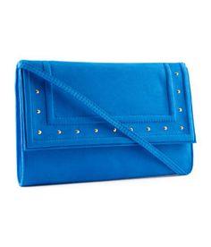 clutch suede in blue