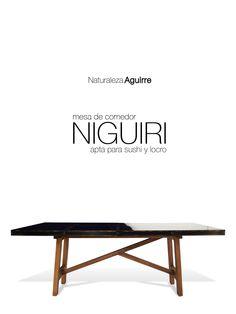 Campaña para medios virtuales 2015: Mesa de comedor Niguiri marca Naturaleza Aguirre. Publicidad para plataforma Apple (ph+diseño+programación)