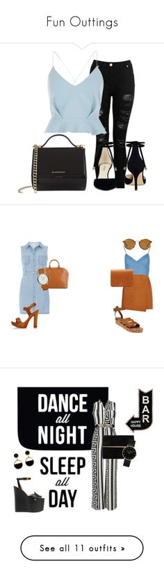 """""""Fun Outtings"""" by happy2bnappy ❤ liked on Polyvore featuring Dorothy Perkins, Dsquared2, MSGM, Louis Vuitton, Marc by Marc Jacobs, VereVerto, K. Jacques, Ray-Ban, Native State and Gucci"""