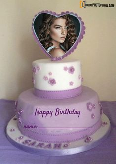 Best Birthday Cake Photo with Name - Online Photo Frames Birthday Cake Greetings, Birthday Cards, Happy Birthday, Cake Frame, Personalized Photo Frames, Photo Online, Names, Website, Amazing
