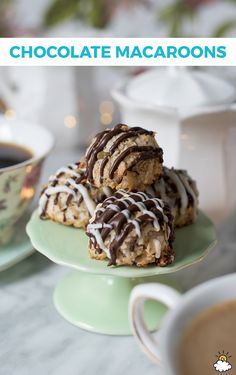 Delight your guests with this tasty #chocolate #macaroon #recipe! These chocolate macaroons are delectable, easy to make, and will satisfy your #sweet tooth with a single bite!