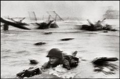 Robert Capa - One of the first D Day pictures [June 6 1944]