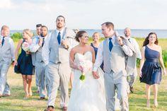 Patriots Point Charleston Wedding by Charleston wedding photographer Dana Cubbage. Dress by Stella York