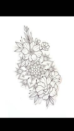 Floral Mandala Tattoo, Mandala Tattoo Design, Flower Tattoo Designs, Flower Tattoos, Dope Tattoos, Forearm Tattoos, Body Art Tattoos, Tattoo Femeninos, Make Tattoo