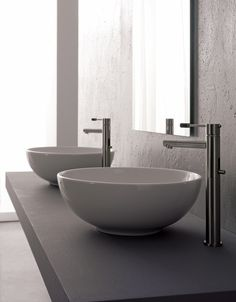 Scarabeo by Nameeks Sfera 8009 Above Counter Bathroom Sink, White modern-bathroom-sinks Above Counter Bathroom Sink, Modern Bathroom Sink, Bathroom Tray, Wall Mounted Bathroom Sinks, Bathroom Renos, Bathrooms, Bathroom Ideas, Bath Ideas, Bathroom Remodeling