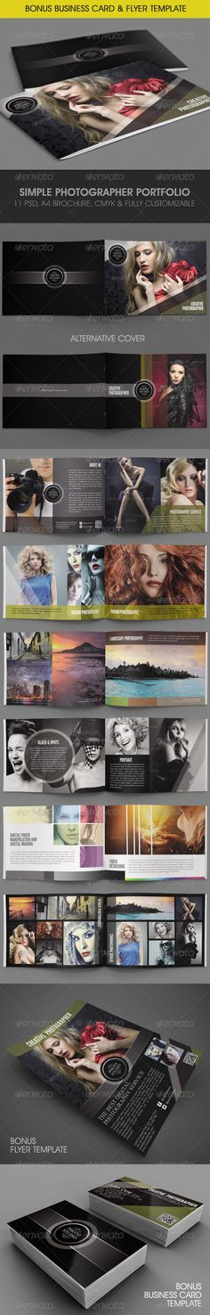 Simple Photographer Portfolio - Portfolio Brochures