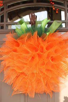 Cute Mesh Pumpkin Wreath