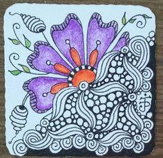Bijou/Twinchie for Twinchies & Inchies Swap in Zentangle Artist's Trading Card Swap, August 2015. Julie Beland. Zentangle. ZIA.