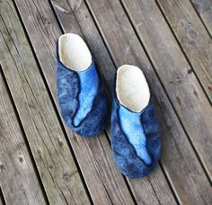 felted slippers River / Upe pamana.lv