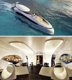 futuristic private house boat idea