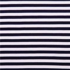 tissu jersey viscose elasthanne rayures marin  50x140 cm