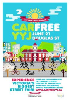 Mark your calendar's for 21st to experience Victoria's most exciting new festival, Car Free Day!