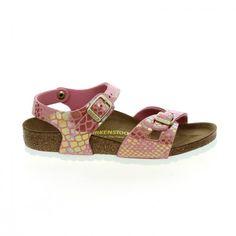 #Bessec Nu-pieds #BIRKENSTOCK RIO Rose Et Imprimés écailles à 59€ disponibles sur bessec-chaussures.com !