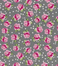Buttercream™ Olivia Cotton Fabric-Ditsy Rose Gray