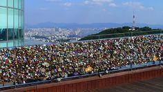 Los candados del amor. En Seúl, Corea del Sur.