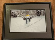 Art-Photography-Landscape-8x10 Framed and Matted-The Snowman