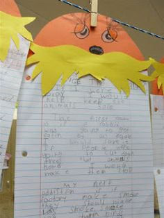 writing- If you could be Lorax for the day, what would you do to make the world a better place? Going to do this!