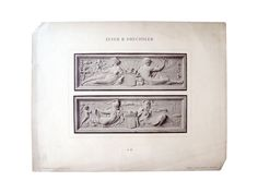 1890's Allegorical Relief Decorations Lithograph on Chairish.com