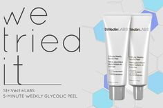 """""""I could immediately feel and see that my skin was softer and brighter."""" @youbeautysite  editors test drove our 5-Minute Weekly Glycolic Peel and saw instant results. Read their glowing review now."""
