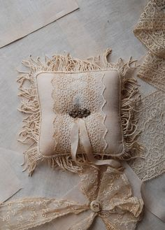 love this ring pillow, but maybe less stained
